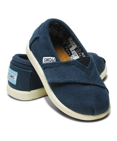 Take a look at this 2012 Edition Navy Canvas Classics - Tiny by TOMS on #zulily today!