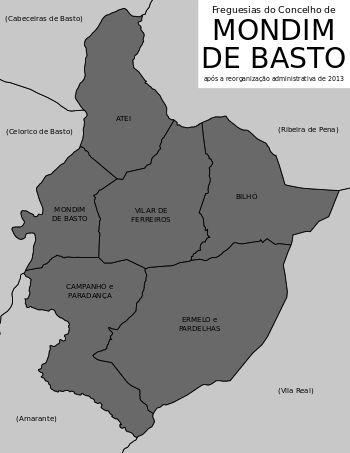 Freguesias do concelho de Mondim de Basto