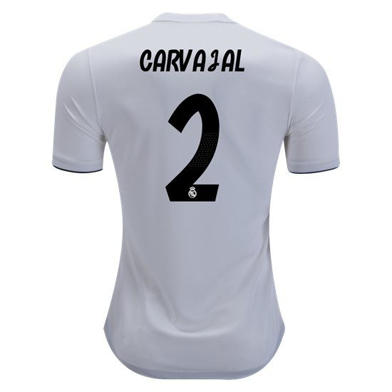 2018 2019 Dani Carvajal Jersey Number 2 Home Authentic Men S Real Madrid Team Real Madrid Soccer Jersey Soccer Shirts