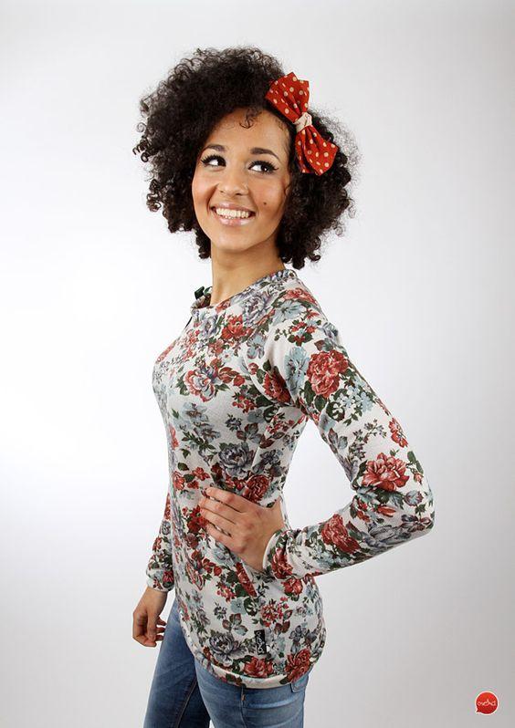"""Sweatshirts - MEKO Pullover/Loop """"ZEILO_Blume/Wolle"""" - ein Designerstück von meko bei DaWanda"""