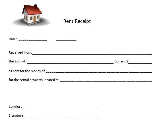 House Rent Receipt Letter Receipt Template Receipt Invoice Template