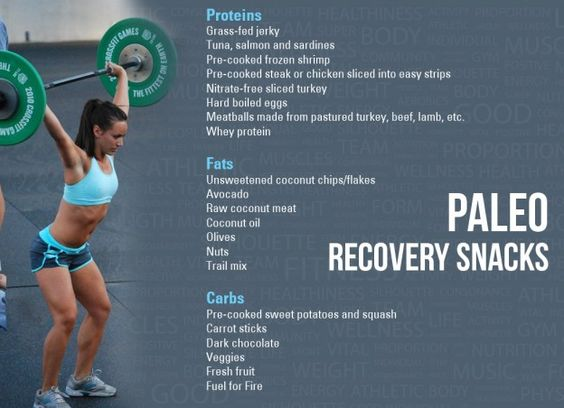 Paleo snacks for post-workout recovery