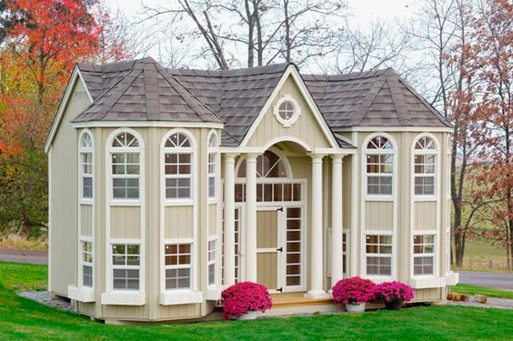 Little Cottage Company Playhouses Wooden Grand Portico Mansion Outdoor Playhouse, Price: $6,899.00