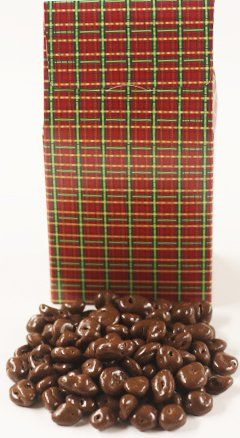 Scott's Cakes Chocolate Raisins in a 8 oz. Standing Christmas Plaid Box * Check out this great image @