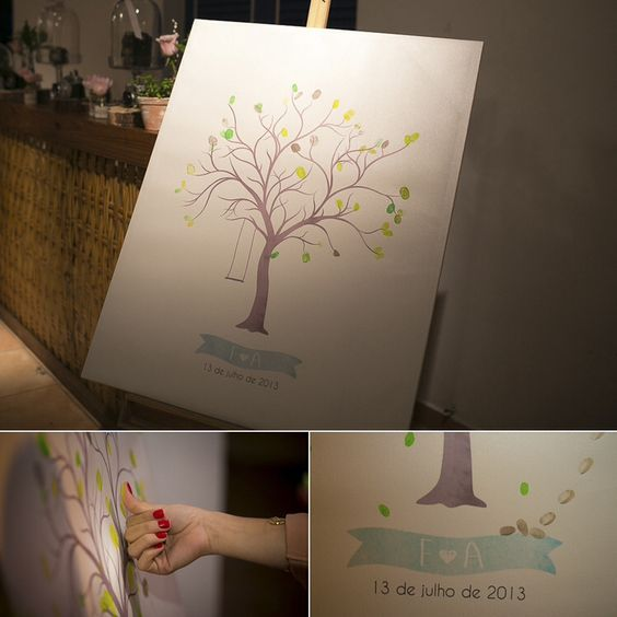 Árvore de dedos dos convidados