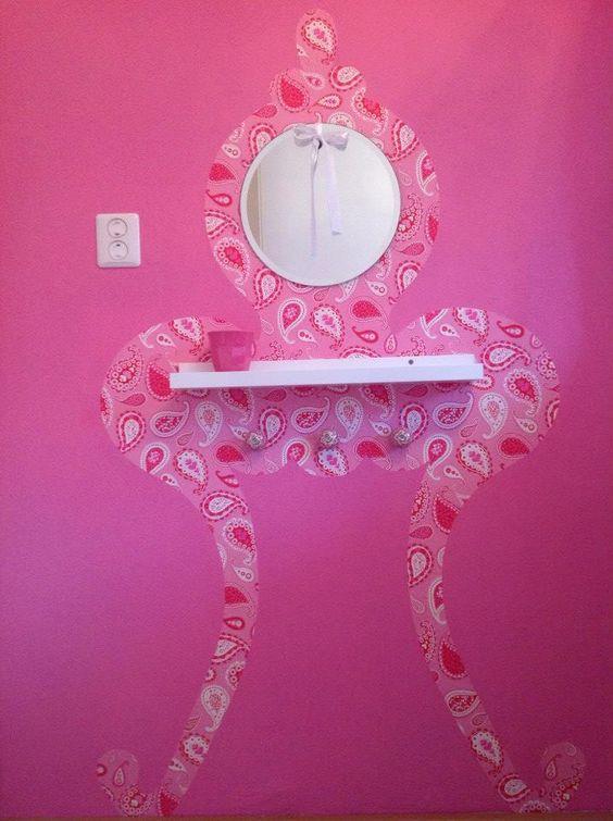 Zelf gemaakt uit behang geknipt een spiegeltje van de xenos en een plankje van ikea het - Behang voor een kamer ...