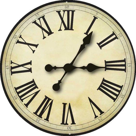Transformative image regarding printable clock faces for crafts