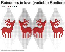 Ravelry: Julekuler - Reindeers in love (verliebte Rentiere) pattern by Jasmin Malekpour-Augustin