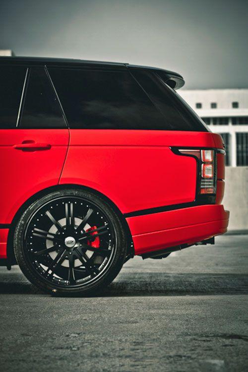 Matte Red Range Rover