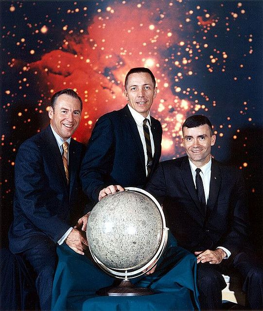 The Crew of Apollo 13 - After the replacement of Mattingly. (Lovell, Swigert & Haise)