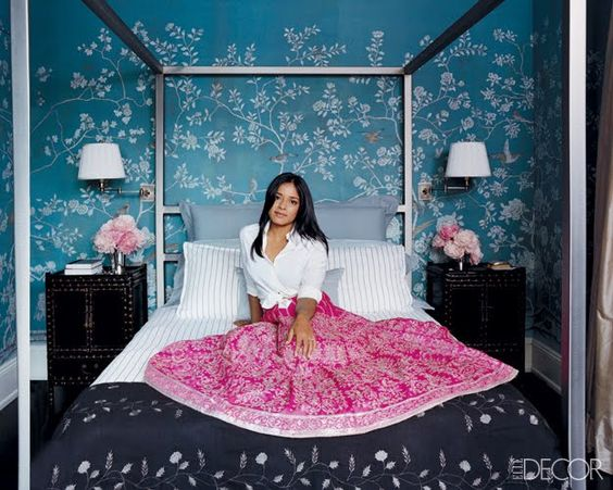 love the wallpaper: Blue Wall, Bedroom Wallpaper, Wallpaper Topbedrooms, Master Bedroom, Bedroom Ideas