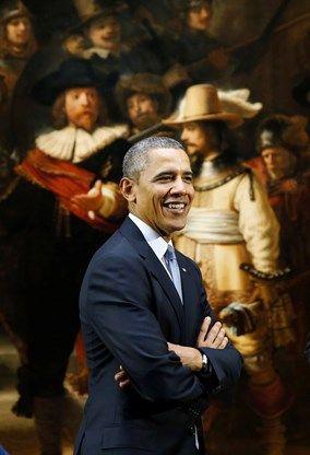 President Barack Obama visiting the Rijksmuseum, Amsterdam. (24-03-2014) #greetingsfromnl: