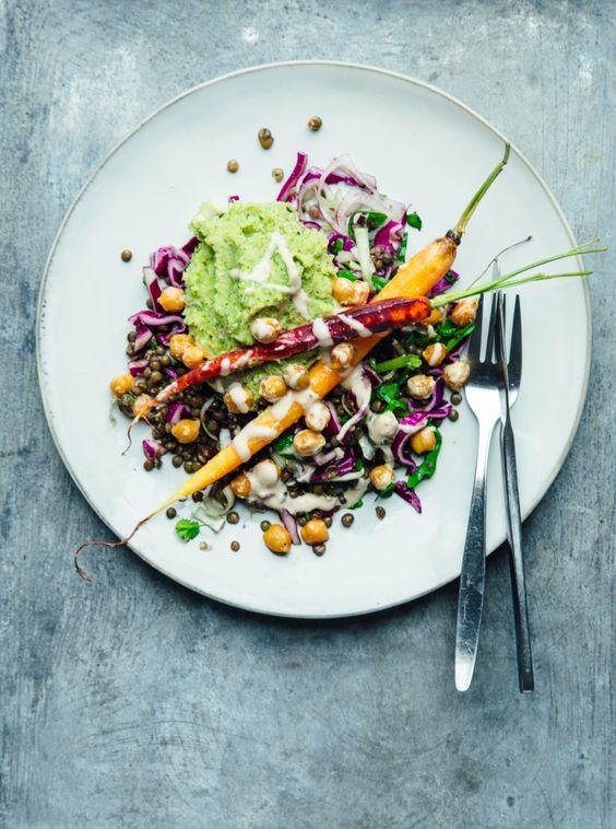 Spicy Lentil Salad with Broccoli Mash | healthy recipe ideas @xhealthyrecipex | | Nourish Atelier
