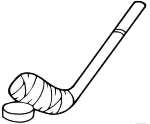 Hockey Stick Coloring Pages