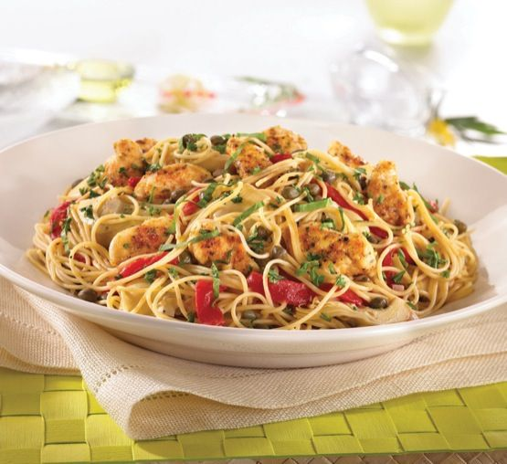 Chicken piccata pasta, White wine sauces and Chicken piccata on