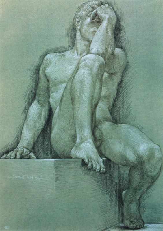 Paul Cadmus, Male Nude NM155, 1979