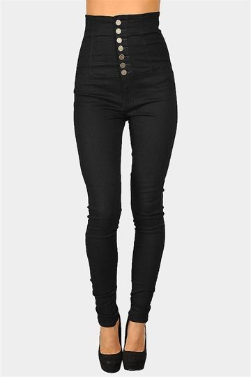 I have been looking for a pair of high-waisted jeans like this ...