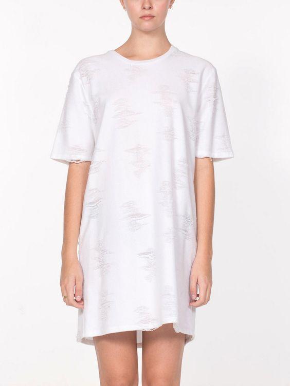 Gebella T-Shirt Dress / White