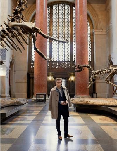 Dan Stevens at the Museum of Natural History in New York -- Photograph by Susanna Howe