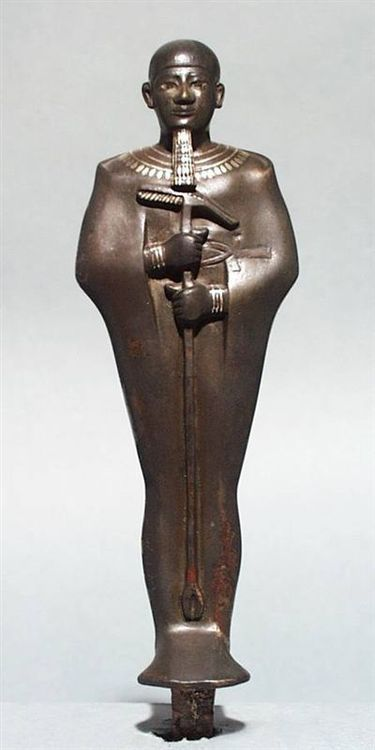 Statue of Ptah    Made of Bronze and Gold    26th Dynasty