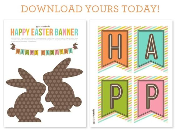 Adaptable image within happy easter banner printable