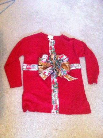 Tacky sweater situation how to make your own for Ugly christmas sweater ideas make your own