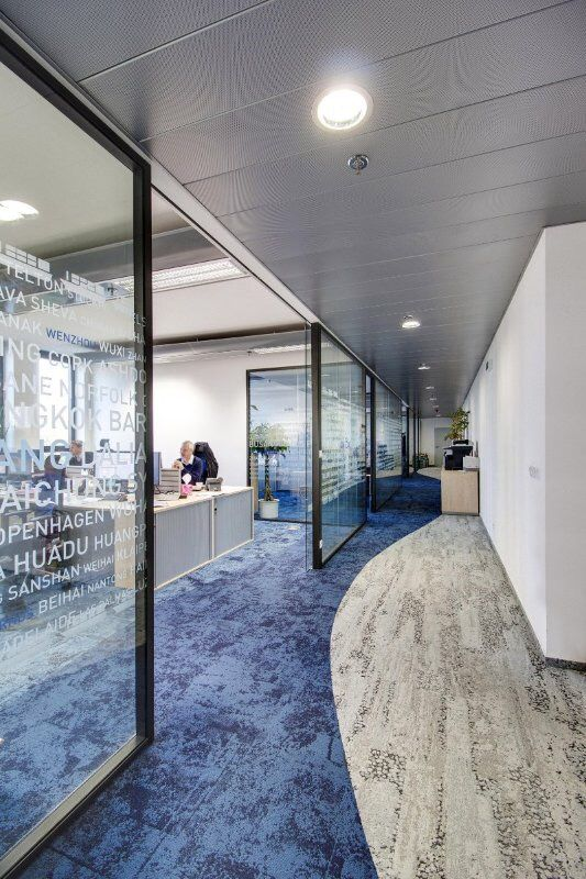 Interface Carpets Combination Of Square And Plank Tiles