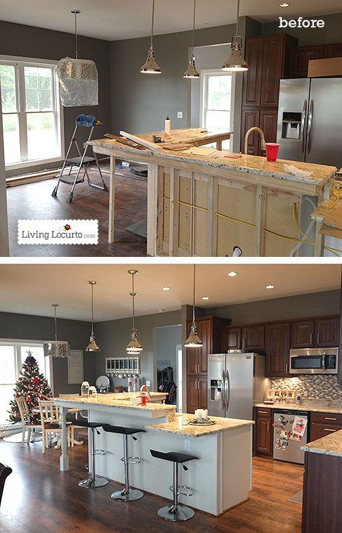 Diy holiday home tour before after design process cabinets and islands - Kitchen design process ...
