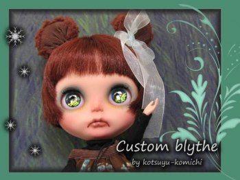 * kotsuyu-komichi * Custom Blythe * bobbed bear-chan *  Buy her here:   #blythe #blythedolls #kawaii #cute #rinkya #japan #collectibles #neoblythe #customblythe
