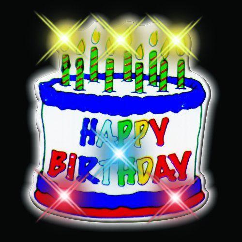 Happy Birthday Cake Flashing Blinking Light Up Body Lights