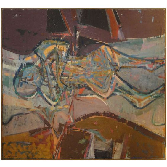 An Impressive Lundy Siegriest Abstract Expressionist Painting   From a unique collection of antique and modern paintings at https://www.1stdibs.com/furniture/wall-decorations/paintings/