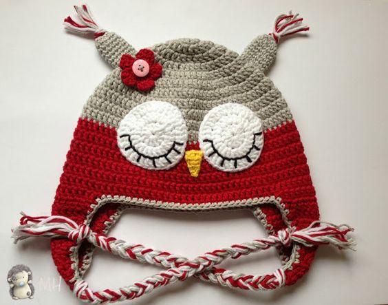 Paso a paso para hacer un gorrito de crochet simulando un búho