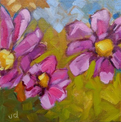 "Daily Paintworks - ""Triple beauty"" - Original Fine Art for Sale - © Jean Delaney"