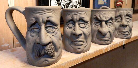 More Face Mugs on the shelf-WIP by thebigduluth.deviantart.com on @DeviantArt