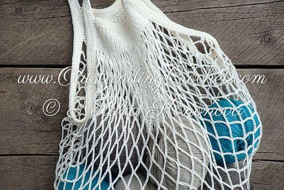 New crochet pattern in the shop - Crochet Retro Market Bag Pattern.