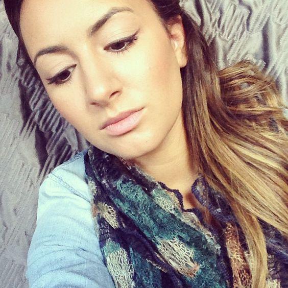 Day-off makeup... clean skin + winged liner. TheBloginista.com