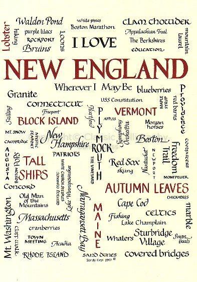 I love New England