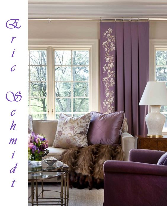 Classic living room modern traditional and purple on - Beige and purple living room ...