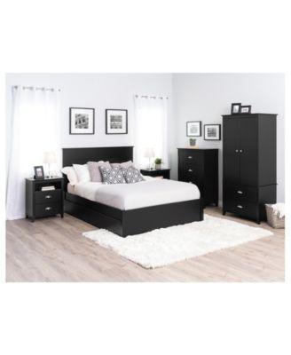 Pin On Dormitorios, Yaletown Black Queen 6 Drawer Platform Storage Bed