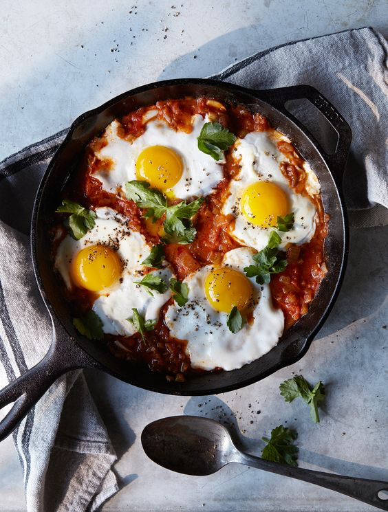 Eggs Baked in Tomato-Paprika Sauce | Recipe | Sauces ...