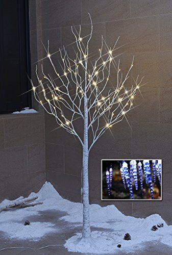 Lightshare New 6ft 72l Led Birch Tree Free Gift 10l Led
