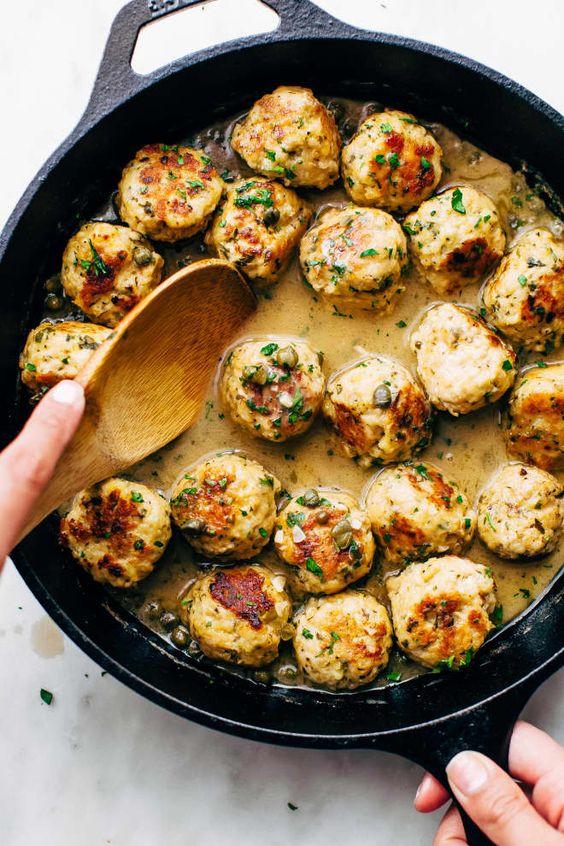 Rustic Chicken Piccata Meatballs Are a Delicious Take on a Classic