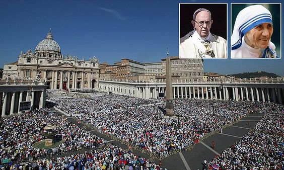 100,000 gather in the Vatican for Mother Teresa's canonisation