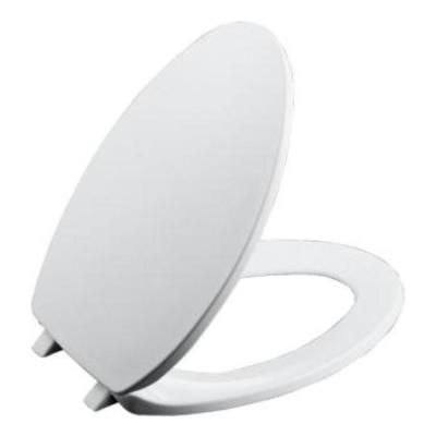 KOHLER Brevia Elongated Closed Front Toilet Seat with Quick-Release Hinges in White-K-4774-0 - The Home Depot