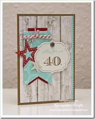 40th Birthday Banner Card.