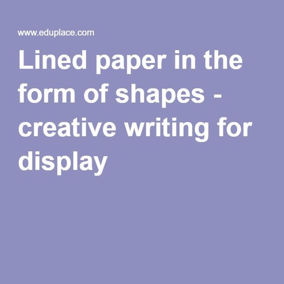 Lined paper in the form of shapes - creative writing for display - lined paper for writing