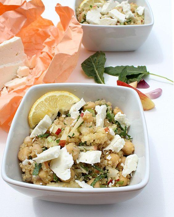 Salade de quinoa, pomme et kale via blancgrenade.com