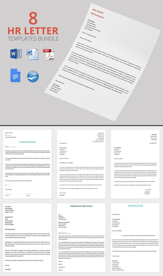 8 Best HR Warning Letters Bundle Education Pinterest Letter - hr letter