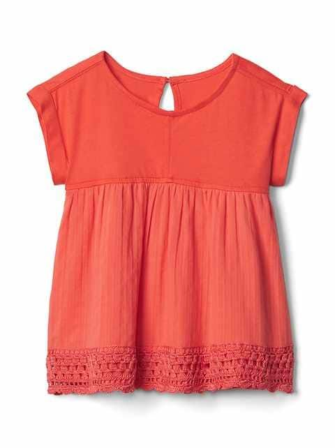 Toddler Girls' Tops: pleated tops, turtleneck tops, ruffle tops at babyGap   Gap
