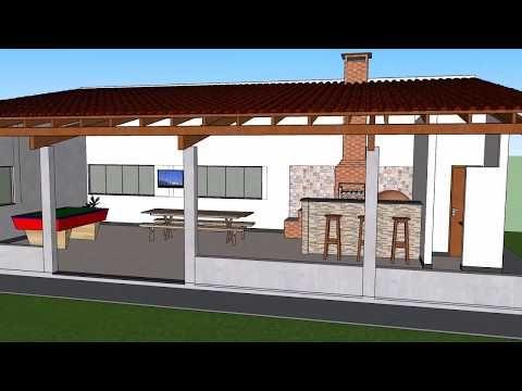 Area De Churrasco E Lazer Youtube Com Imagens Areas De